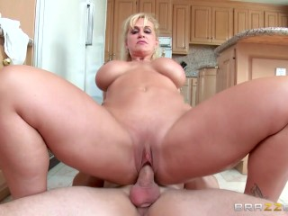 Stepmom takes some young cock  – Brazzers