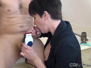 Smooth Handjob – Shaving & sucking, edging, teasing and massive facial