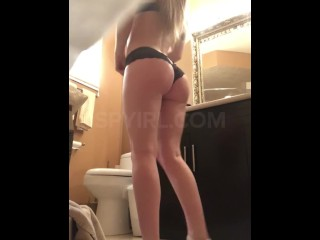 19 years old stunning college babe shower spy cam