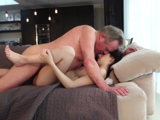 Old and Young Porn – Sweet innocent girlfriend gets fucked by grandpa