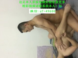 Chinese couple homemade sex handsome husband