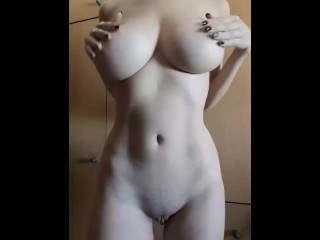 Perfect body under black dress
