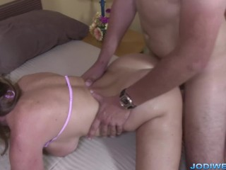 Stepmom Jodi West turns on stepson by changing in front of him!